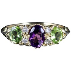 Antique Victorian Suffragette Ring 18 Carat Gold Ring, circa 1900