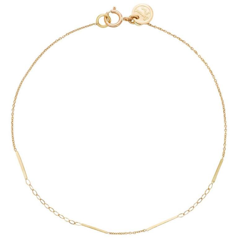 Sweet Pea 18k Gold Fine Chain Sycamore Bracelet