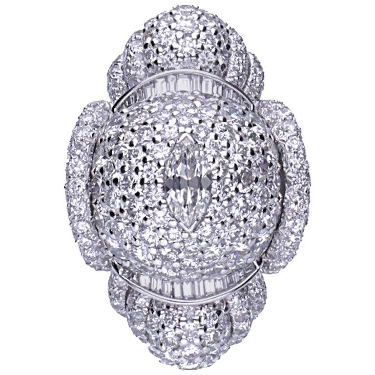 34.75 Carat Diamonds Cocktail Ring