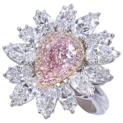 GIA Intense Pink Diamond Ring