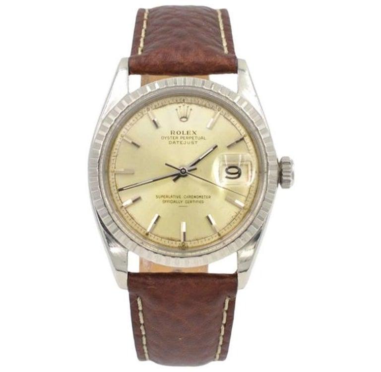 Rolex Stainless Steel Datejust Wristwatch Ref 1603, circa 1966