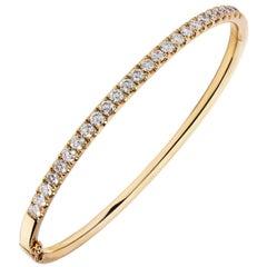 2.05 Carat Diamond Bangle Bracelet in 18 Karat Rose Gold