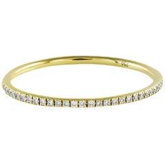 Round Diamond Eternity Wedding Band in 18 Karat Yellow Gold
