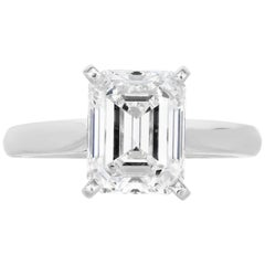 GIA Certified 6.41 Carat Emerald Cut Diamond Ring