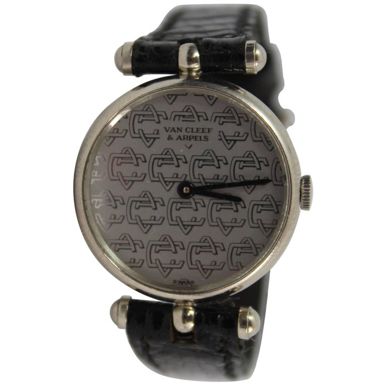 Van Cleef & Arpels White Gold Vintage Watch