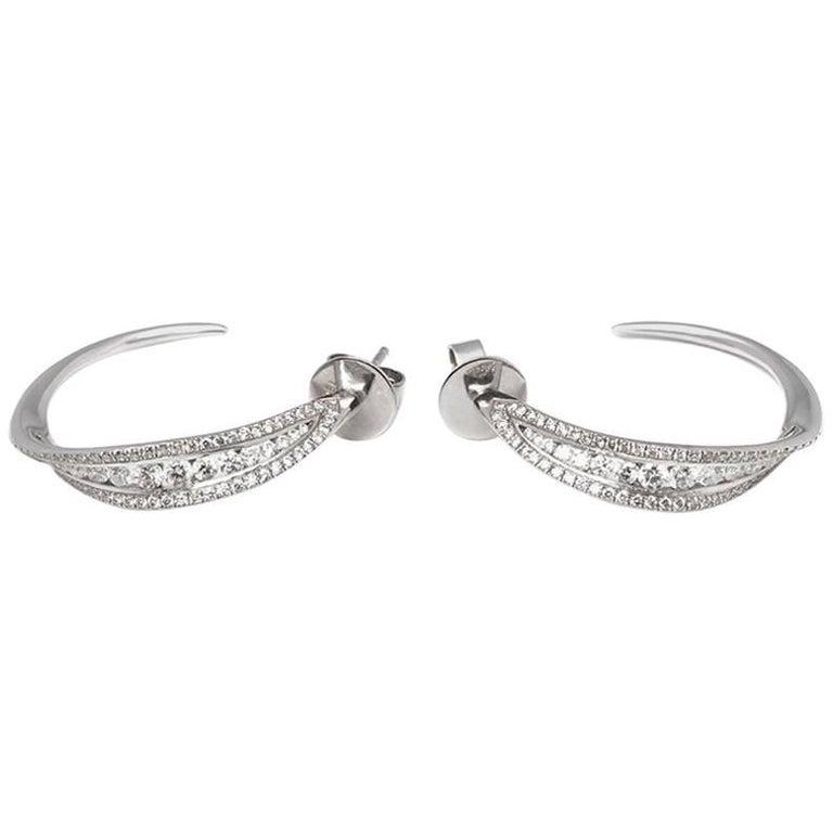 Mappin & Webb Diamond Hoop Earrings