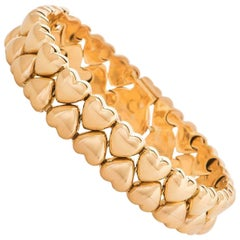 Cartier Yellow Gold Heart Link Bracelet