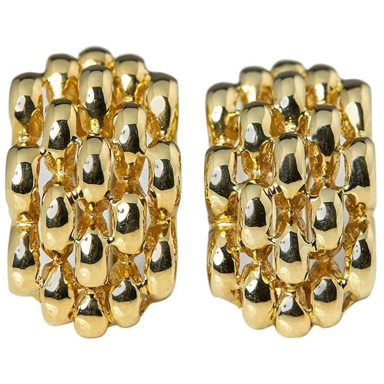 David Morris Yellow Gold Earrings