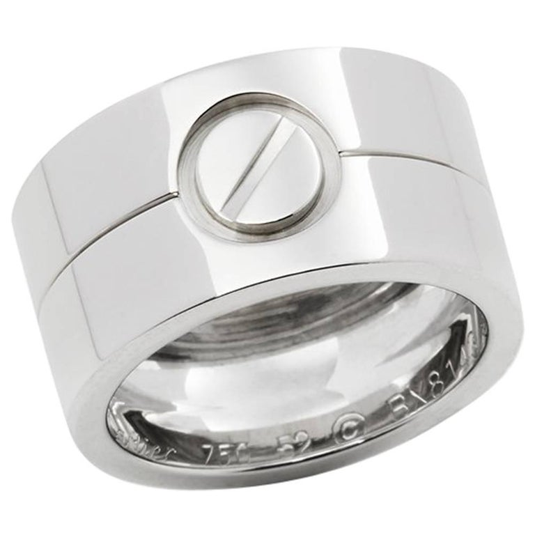 Cartier White Gold High Love Ring