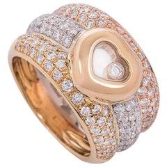 Chopard Tri-Color Gold Happy Diamonds Ring