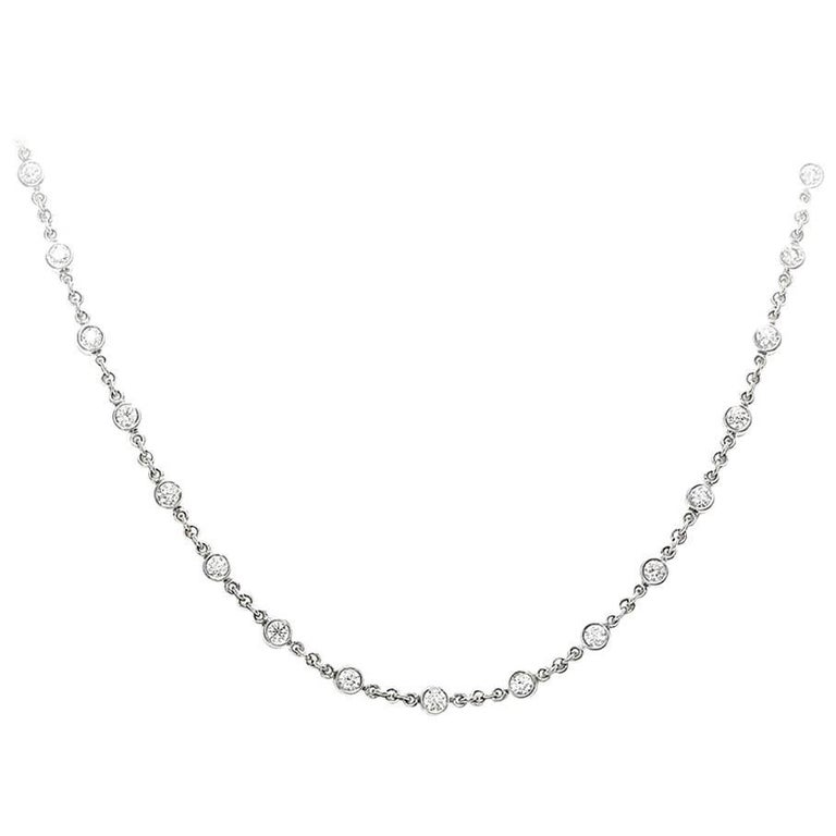 2.33 Carat Total Diamonds by the Yard Necklace