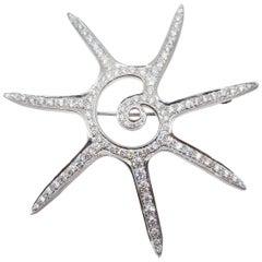 Platinum Tiffany Star Brooch
