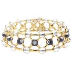 Mauboussin Diamond and Quartz Choker Necklace 18 Karat Yellow Gold