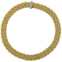 Roberto Coin Appassionata Necklace 18 Karat Yellow Gold with Diamonds
