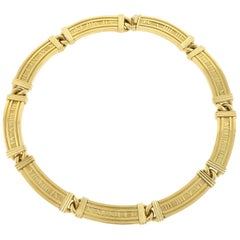 Tiffany & Co. Atlas Collection Necklace 18 Karat Yellow Gold