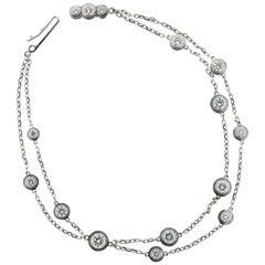 Cartier Diamants Legers 18 Karat White Gold and Diamonds Bracelet