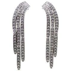 Cartier Diamond Waterfall Dangle Platinum Earrings