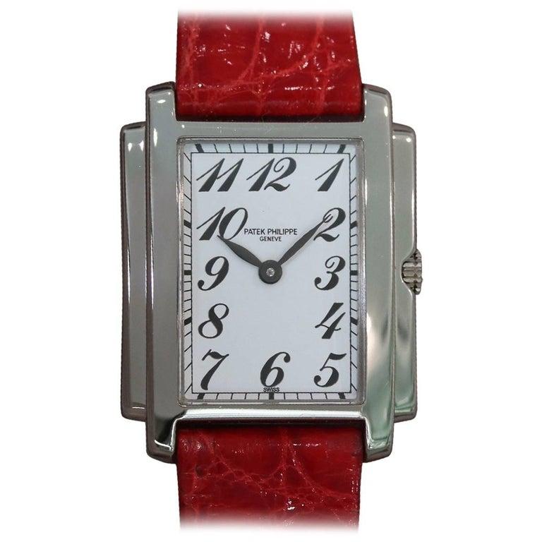 Patek Philippe Ladies White Gold Gondolo Quartz Wristwatch