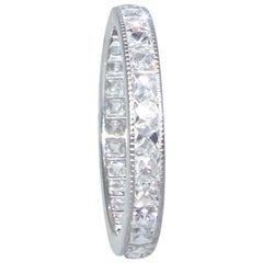 Platinum and French-Cut Diamond Eternity Band