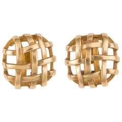 Angela Cummings Woven Gold Earrings
