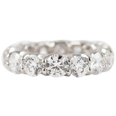 5.6 Total Carat Weight Round Brilliant Diamond Eternity Band