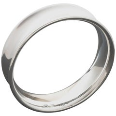 Nanna Ditzel for Georg Jensen Scandinavian Modernist Silver Bangle #142C