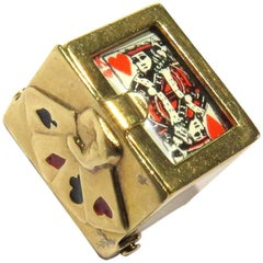 Deck of Cards Movable Gold Charm or Pendant