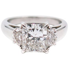 GIA Certified 2.00 Carat Radiant Cut Diamond Platinum Engagement Ring