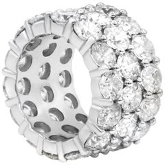 17.00 Carat Three-Row Diamond Eternity Band
