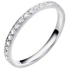 Platinum Diamond Pave Set Eternity Wedding Band