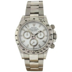 Rolex 116520 Daytona Stainless Steel with a White Dial