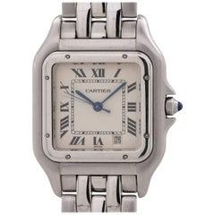 Cartier Stainless Steel Panther quartz Wristwatch, circa 1980s