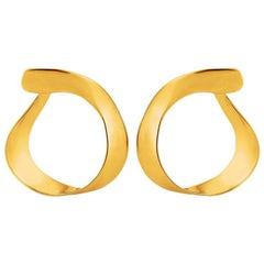 Liv Luttrell Twist Hoop 18 Karat Rose Gold Vermeil Earrings