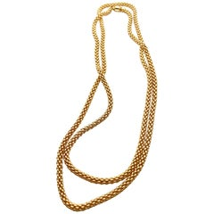 Fope Vendome Woven Rose Gold Italian Made Necklace