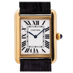 Cartier Yellow Gold Tank Solo quartz wristwatch, circa 2010s