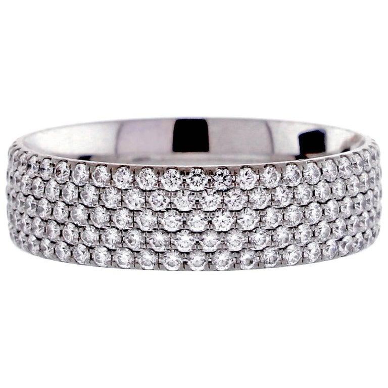 Tiffany & Co. Five-Row Metro Diamond Band Ring