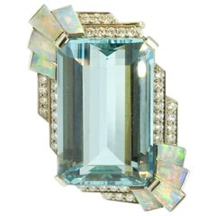 Raymond Yard and Aquamarine Opal Clip