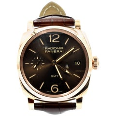 Panerai Rose Gold Radiomir 3 Days GMT Oro Rosso automatic Wristwatch, 1940