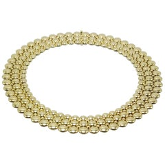 Cartier Honeymoon Reversible 18K Yellow and White Gold Three Row Choker Necklace