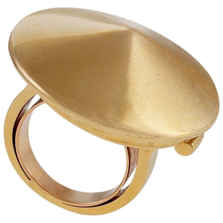 "Van Cleef and Arpels Paris 1980s Gold ""Chapeau Chinois"" Ring"