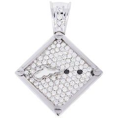 IGL Certified Diamond Gun Pendant