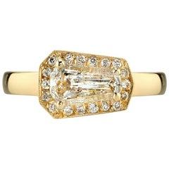 Bold Gold Shield Cut Ring