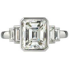 2.40 Carat Emerald Cut Ring