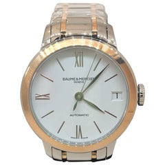 Baume & Mercier Classima 18K Rose Gold & SS Automatic Ladies Watch M0A10315 New
