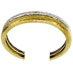 Zolotas Bangle Bracelet 18 Karat Yellow Gold 950 Silver