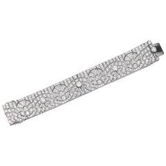 1920s French Art Deco Diamond Platinum Bracelet