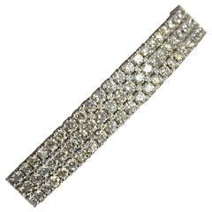 White Diamond Bracelet in 14 Karat White Gold
