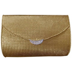 1960s Chaumet Paris Yellow Gold Clutch Evening Bag