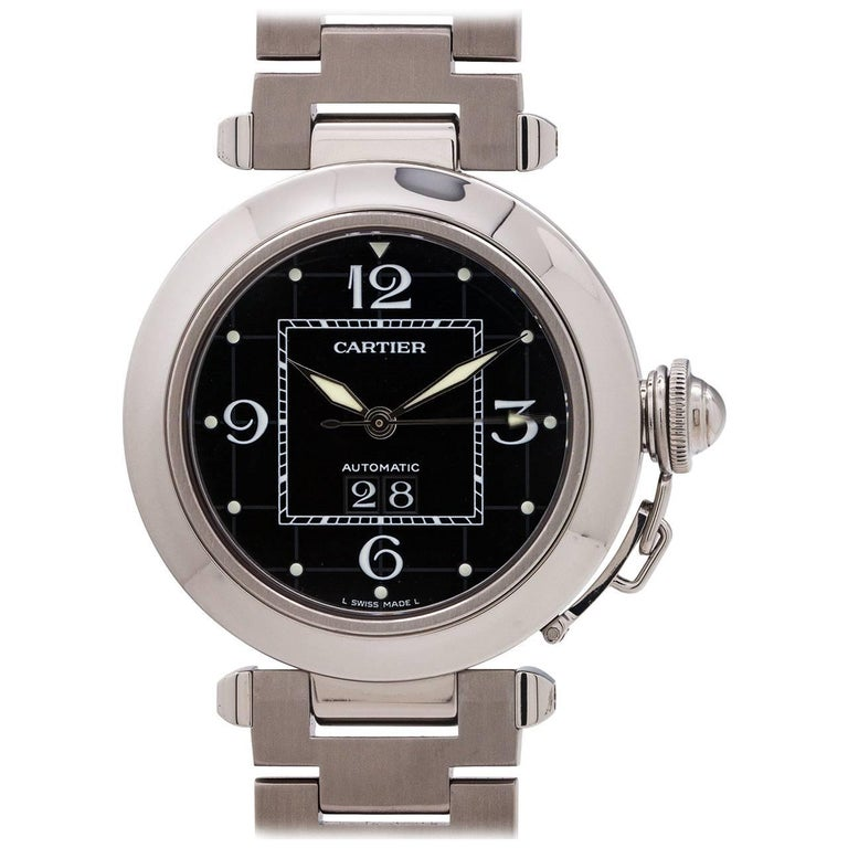 Cartier Stainless Steel Pasha C Big Date wristwatch, circa 2000s