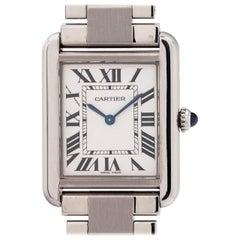 Cartier Ladies Stainless Steel Tank Solo quartz wristwatch Ref 3170, circa 2010